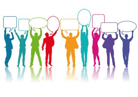 Illustration pour people communicate  - image libre de droit
