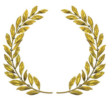 Illustration for gold laurel wreath - Royalty Free Image