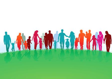 Illustration pour Groups and families - image libre de droit