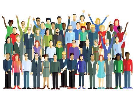 Ilustración de Large group - Imagen libre de derechos