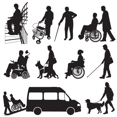 Illustration pour Disabled People - image libre de droit