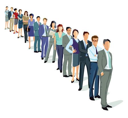 Ilustración de people in a row - Imagen libre de derechos