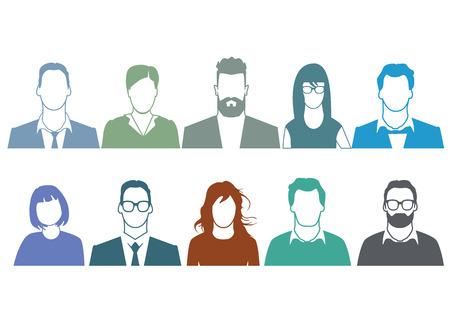 Illustration pour People Portrait - image libre de droit