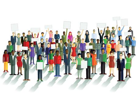 Illustration pour Demonstration and comment - image libre de droit
