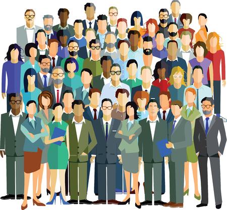 Illustration pour People community group - image libre de droit
