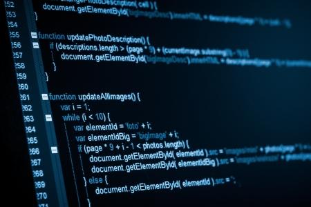 Photo pour Program code on a monitor - image libre de droit