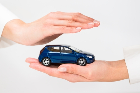 Foto per Protection of car  Business concept  - Immagine Royalty Free