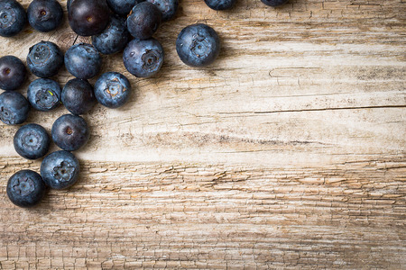 Photo for Blueberries on wooden background  - Royalty Free Image