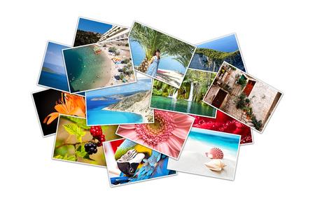 Photo pour A pile of photographs with your empty space  - image libre de droit