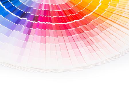 Foto de Colour swatches book. Rainbow sample colors catalogue. - Imagen libre de derechos