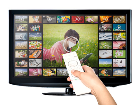 Foto de Video on Demand VOD service on TV television concept. - Imagen libre de derechos