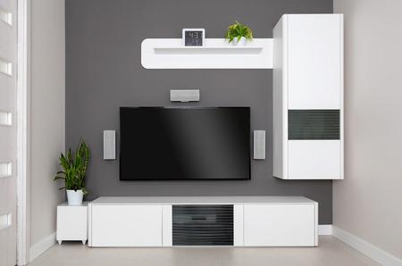 Foto de Modern living room - TV and speakers home theater. - Imagen libre de derechos