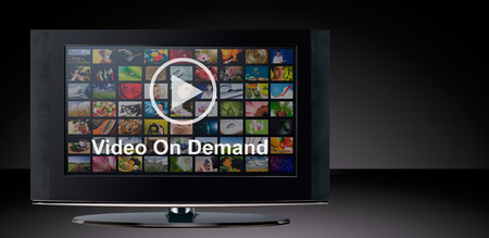 Photo for Video on demand VOD service on TV, television concept. - Royalty Free Image