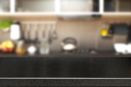 Photo pour Interior of kitchen and desk space. - image libre de droit