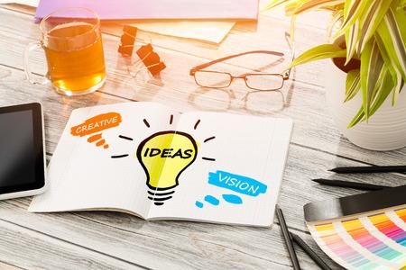 Photo pour Ideas Creative Social Media Social Networking Vision Concept - Stock Image - image libre de droit