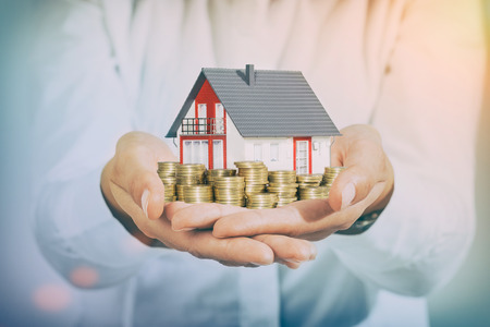 Photo for money housing house home loan wealth investment mortgage - stock image - Royalty Free Image