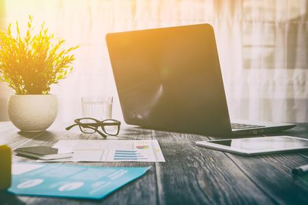 Foto de workspace office workplace background business design desk laptop - stock image - Imagen libre de derechos