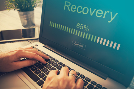 Foto de data backup restoration recovery restore browsing plan network corporate networking reserve business concept - stock image - Imagen libre de derechos