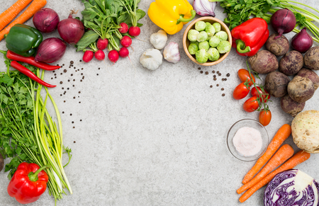 Photo pour food background cooking ingredient kitchen concept meal vegetarian vegetable health top view space board table blank brown concept - stock image - image libre de droit