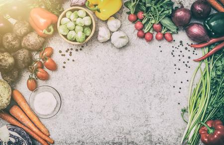 Foto de food background cooking ingredient kitchen concept meal vegetarian vegetable health top view space board table blank brown concept - stock image - Imagen libre de derechos