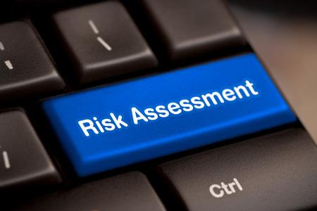 Foto de risk assess assessment project market keyboard button keypad caution issue critical solving concept - stock image - Imagen libre de derechos