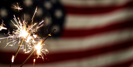 Photo pour American flag for Memorial Day, 4th of July or Labour Day - image libre de droit