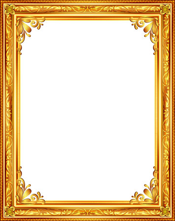 Ilustración de gold frame louis picture vector abstract design - Imagen libre de derechos