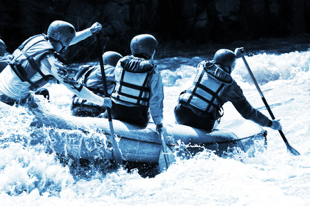 Photo for Rafting azure colors - Royalty Free Image