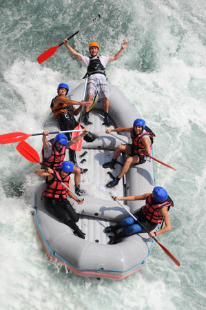 Foto de Kayaking as extreme and fun sport - Imagen libre de derechos