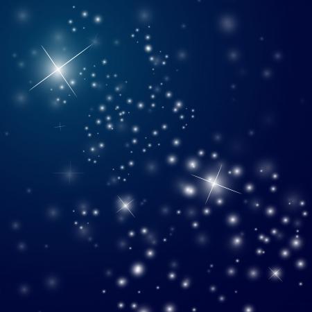 Illustration pour abstract starry night sky - vector illustration - image libre de droit