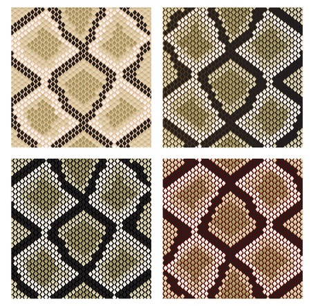 Set of snake skin pattern for design or ornate