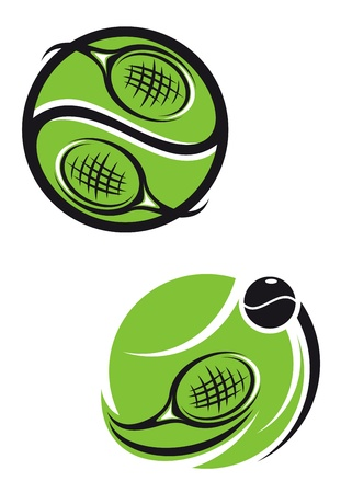 Tennis emblems and symbols isolated on white background for sports design