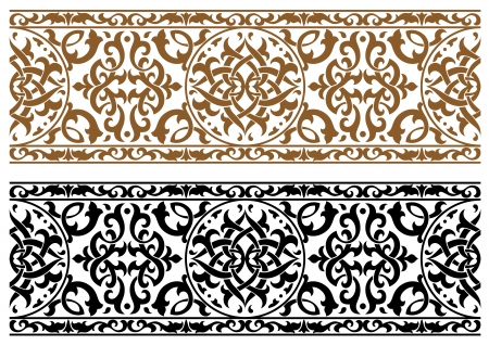 Illustration for Abstract arabic ornament in two colors for design and ornate - Royalty Free Image