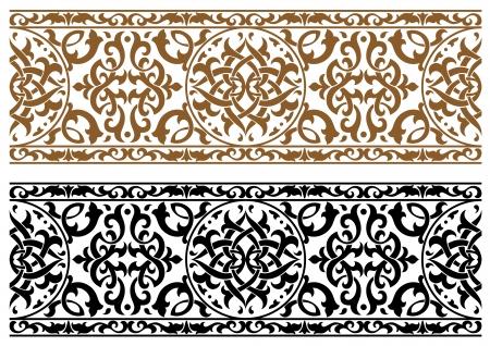 Ilustración de Abstract arabic ornament in two colors for design and ornate - Imagen libre de derechos