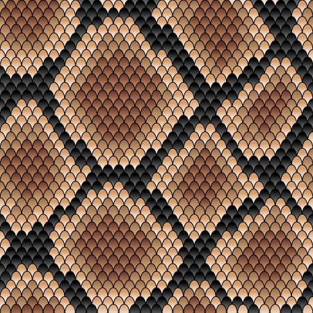 Illustration pour Brown snake seamless patternfor background or fashion design - image libre de droit
