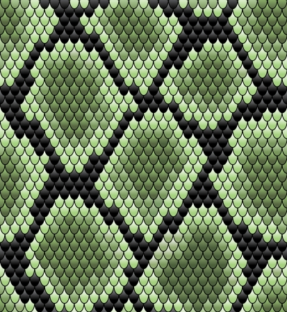 Green seamless snake skin pattern for background design