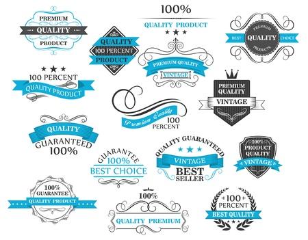 Illustration pour Retro labels, headers and calligraphic elements set for design - image libre de droit