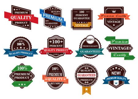 Illustration pour Retro banners, labels and stickers set for retail business design - image libre de droit