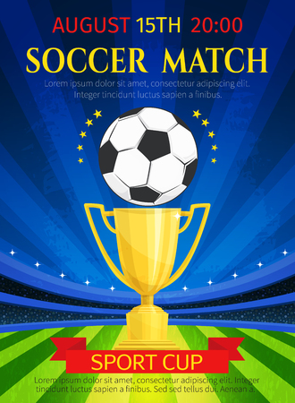 Illustration for Vector poster for soccer match championship - Royalty Free Image