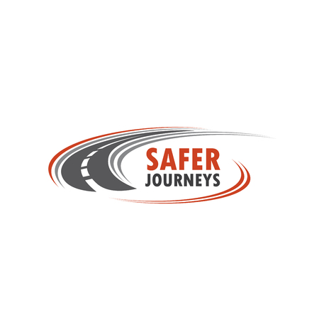 Foto per Road vector icon for safety journey - Immagine Royalty Free
