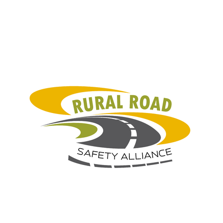 Illustration for Vector icon of rural road for safety alliance - Royalty Free Image