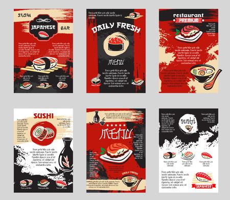 Ilustración de Vector poster for Japanese sushi bar or restaurant - Imagen libre de derechos