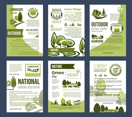 Illustration for Ecology posters set for environment design - Royalty Free Image