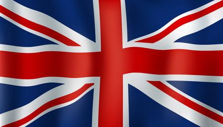 Illustration pour Union Jack national symbol of United Kingdom. British Union Flag waving. European and UK history, patriotism and geography themes design - image libre de droit