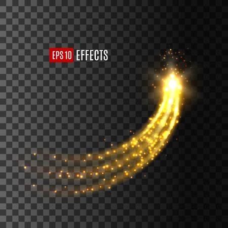 Ilustración de Light effect star comet glitter trail vector icon - Imagen libre de derechos