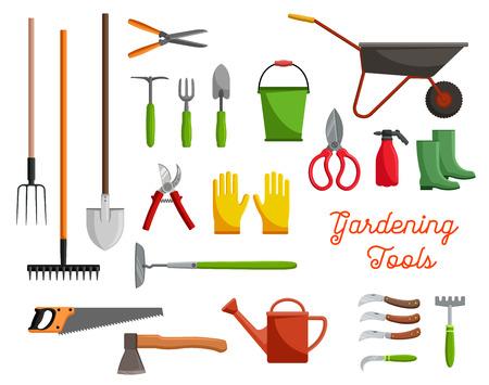 Ilustración de Vector icons of farm gardening tools - Imagen libre de derechos