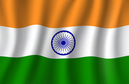 Illustrazione per Indian flag 3d , national banner of India - Immagini Royalty Free