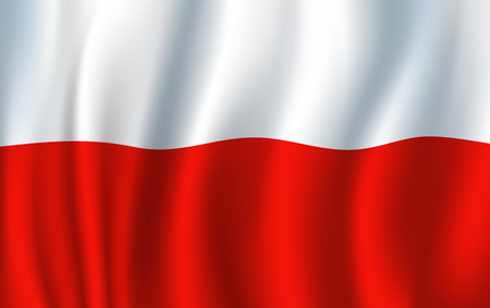 Illustration pour Poland vector 3D flag background national symbol - image libre de droit