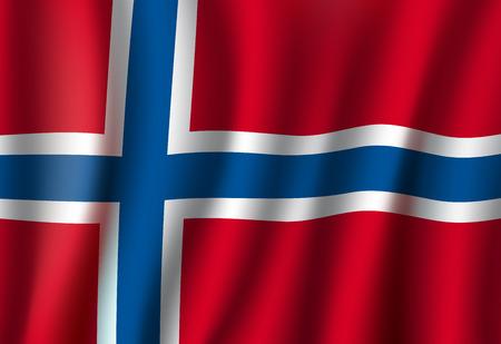 Illustration for Norway vector 3D flag background national symbol - Royalty Free Image
