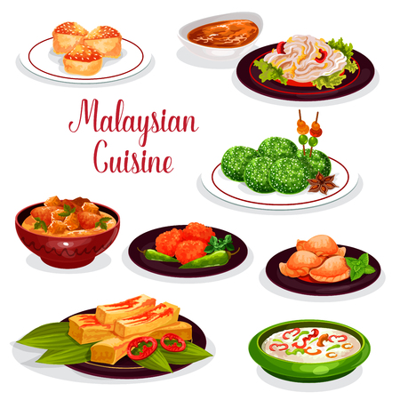 Photo for Malaysian cuisine restaurant dinner icon design - Royalty Free Image
